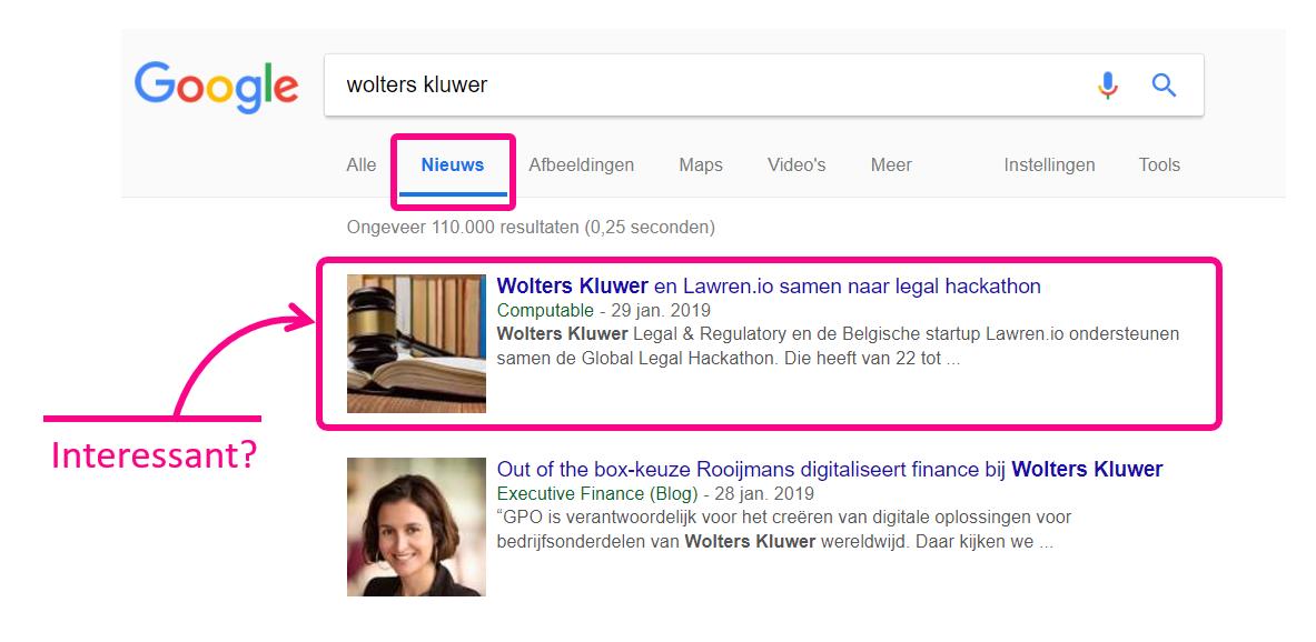google organisatie