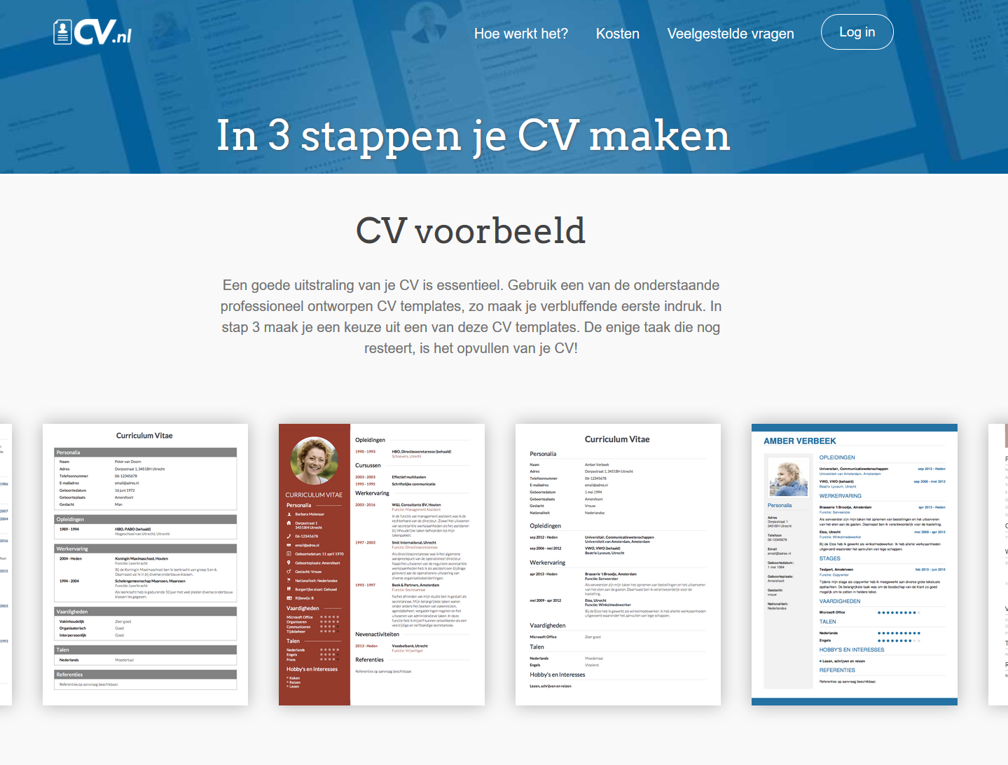 cv.nl website