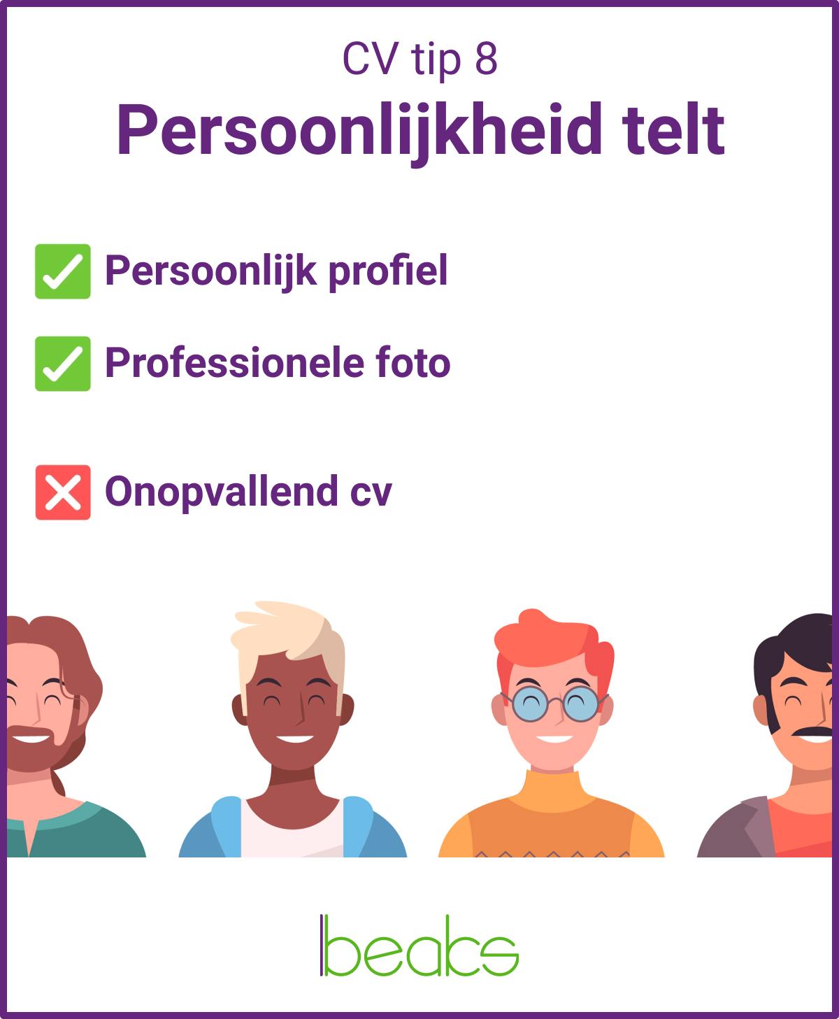 CV tip 8 Persoonlijkheid telt